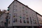 Дом с цветными балконами