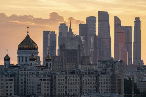 Крыши. Закат на Новокузнецкой